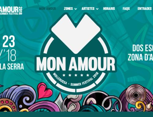 Realitzem pàgina web de Mon Amour, Mollerussa summer festival 2018