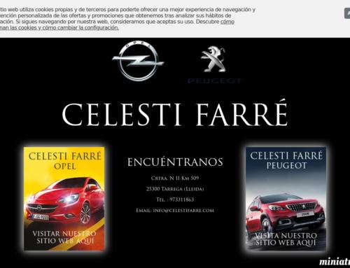 Finalitzem la pàgina web Celestí Farré