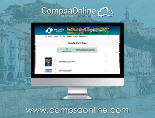CompsaOnline realiza una agenda de actividades para Balaguer televisión.