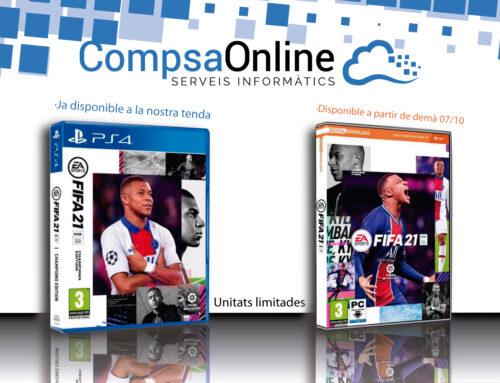 CompsaOnline ja disposa del Fifa 21 a partir d'avui dimarts dia 06/10/2020, versió Champions Edition.