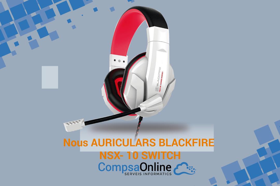 auriculars per Nintendo switch BLACKFIRE NSX- 10