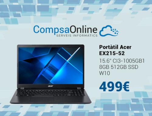 El portàtil Acer amb SSD de 512GB i processador I3 més econòmic del mercat