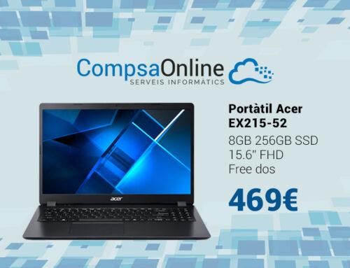 Portàtil Acer, el model amb processador I3 més econòmic