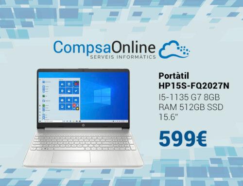 Portàtil HP molt potent amb 512GB de SSD i processador Intel I5