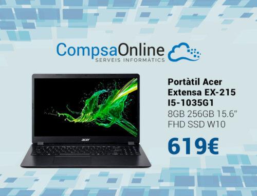 Portàtil Acer molt potent amb processador Intel I5