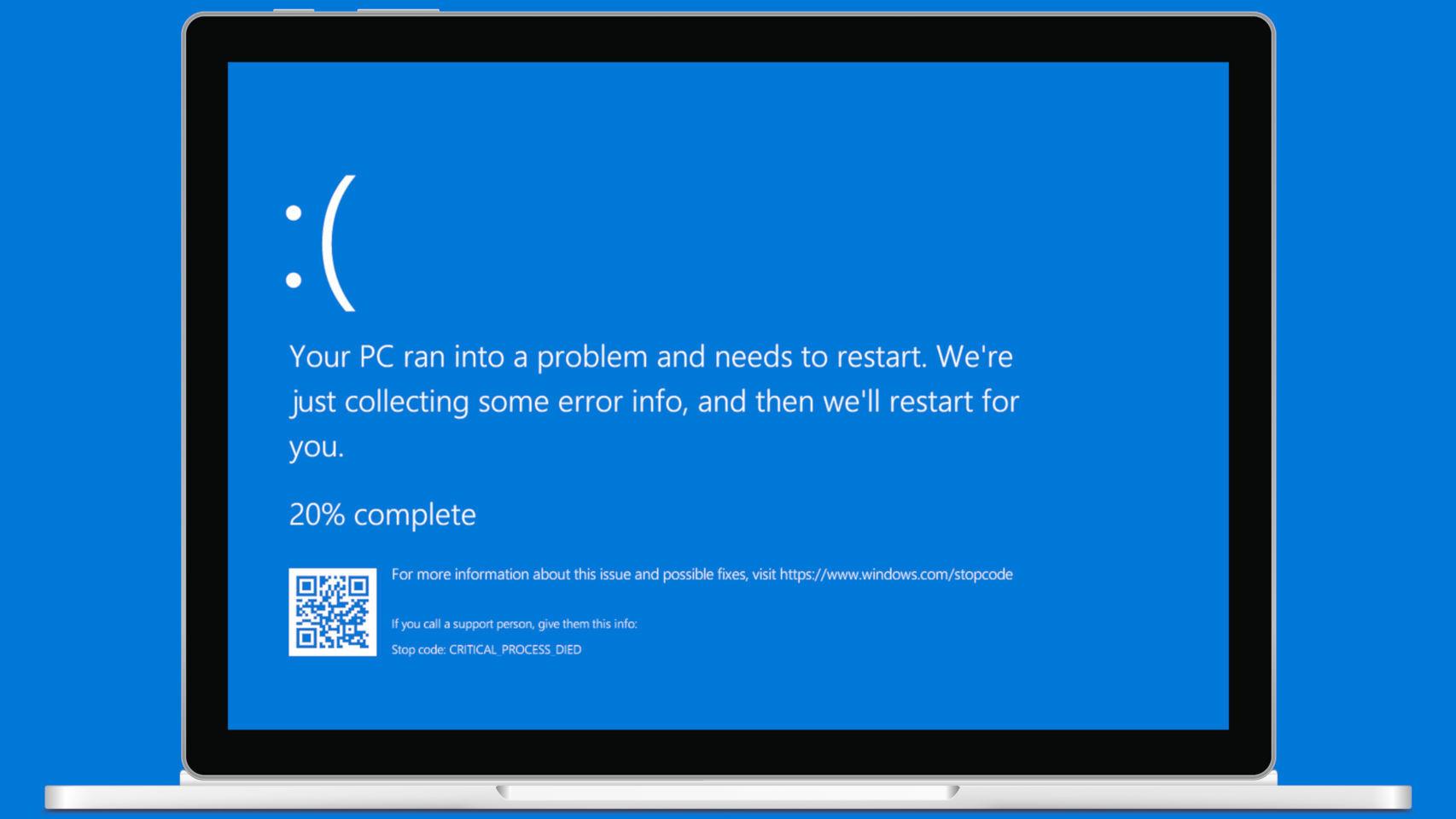 Pantallazo azul de Windows 10